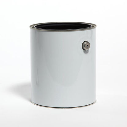 Picture of 1 Gallon White Round Can, Gray Lined with Ears, 610x708 (Bulk Pallet)