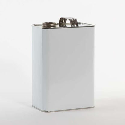 "Picture of 1 Gallon White F-Style Can, Unlined, 1 3/4"" Delta, 610x907 (Indented Bottom)"