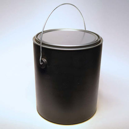 Picture of 1 Gallon Black Plastic Round Can