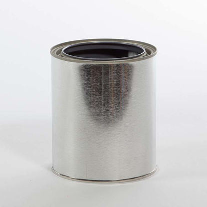 Picture of 1 Quart Round Can, Gray Lined, 404x414 (Bulk Pallet)