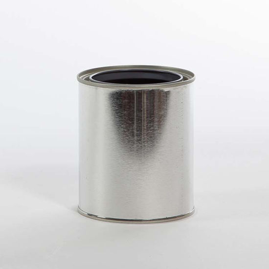 Picture of 1 Pint Round Can, Gray Lined, 307x315
