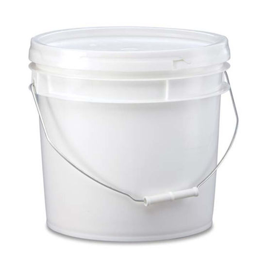 Picture of 3.5 Gallon White HDPE Open Head Pail, UN-Rated