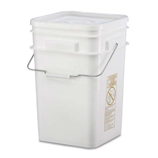 Picture of 4.25 Gallon White HDPE Square Open Head Pail