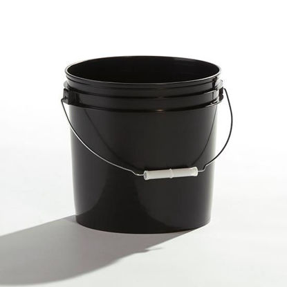 Picture of 2 Gallon Black HDPE Open Head Pail