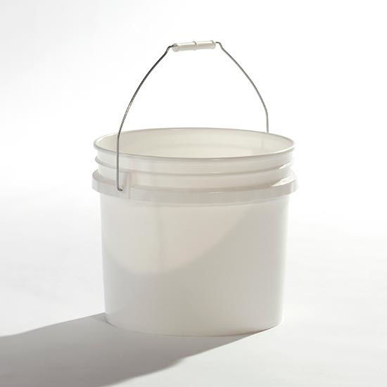 Picture of 3.5 Gallon White HDPE Open Head Pail, 1H2/Y1.5/30 & 1H2/Y43/S