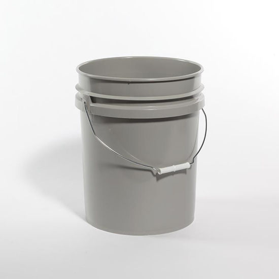 Picture of 5 Gallon Gray HDPE Open Head Pail, 1H2/Y1.5/30