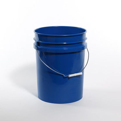 Picture of 20 liter Blue HDPE Open Head Pail, 1H2/Y25/S