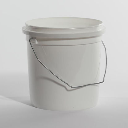 Picture of 1 Gallon White HDPE Open Head Pail