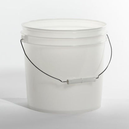 Picture of 2 Gallon Natural HDPE Open Head Pail, 1H2/Y7.5/S