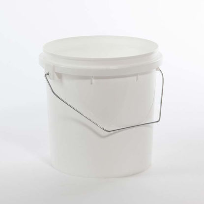 Picture of 1 Gallon White HDPE Vapor Lok Pail with Handle