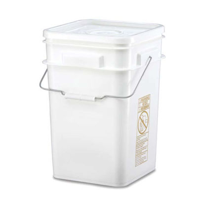 Picture of 3.3 Gallon White HDPE Open Head Pail w/ Metal Handle