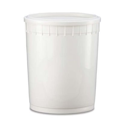 Picture of 3 Gallon HDPE White Dairy Tub