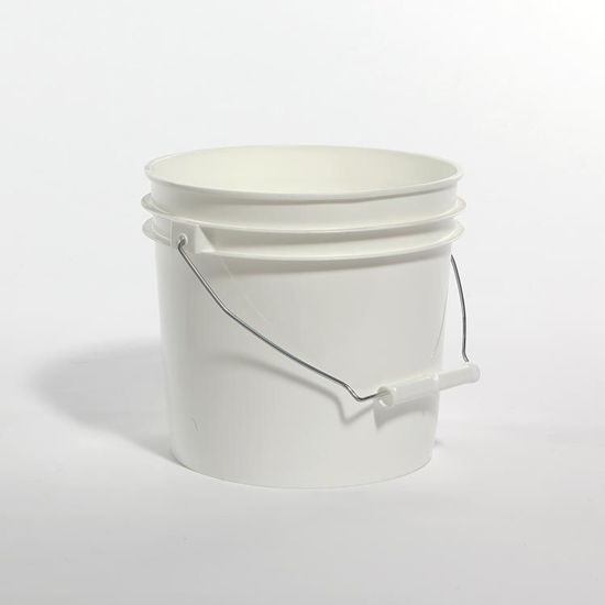 Picture of 1 Gallon White HDPE Open Head Pail, Anti-Static