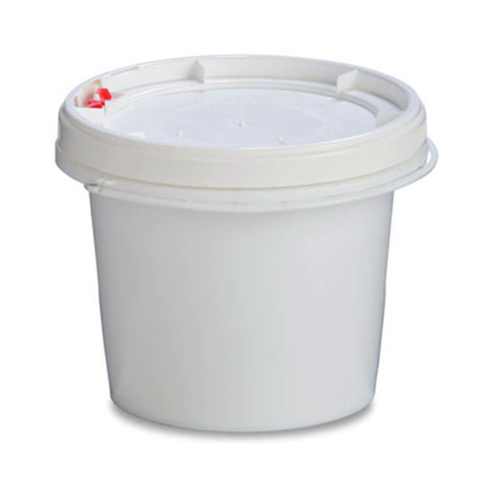 Picture of 1.25 Gallon White HDPE Life Latch Open Head Pail, 1H2/Y6/S