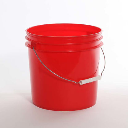 Picture of 2 Gallon Red HDPE Open Head Pail