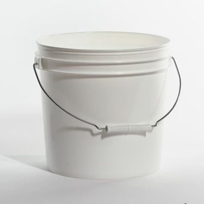 Picture of 2 Gallon White HDPE Open Head Pail