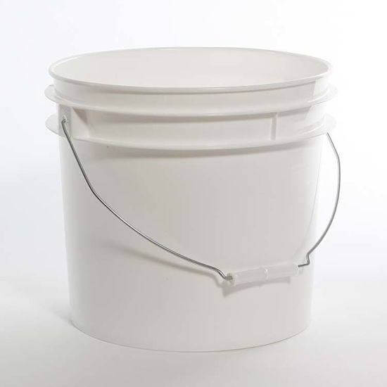 Picture of 3.5 Gallon White HDPE Open Head Pail, 1H2/Y25/S