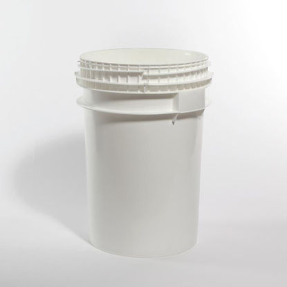 Picture of 10.7 Gallon White HDPE Open Head Pail, 1H2/Y54.0/S
