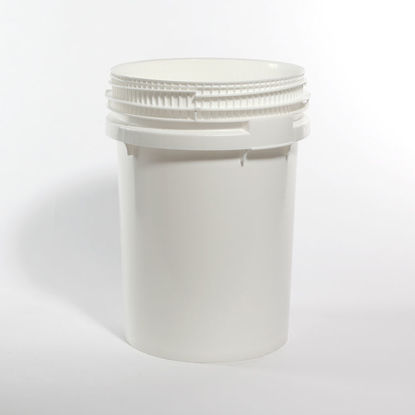 Picture of 12.2 gallon White HDPE Open Head Pail
