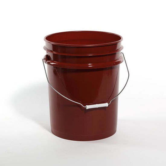 Picture of 5 Gallon Red HDPE Open Head Pail