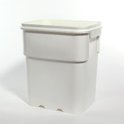 Picture of 13 Gallon White HDPE EZ Stor Pail