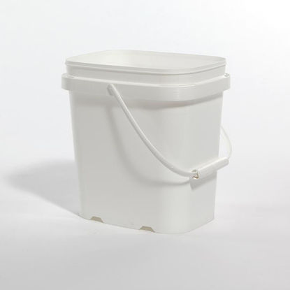 Picture of 1 Gallon White HDPE EZ Stor Pail with Handle