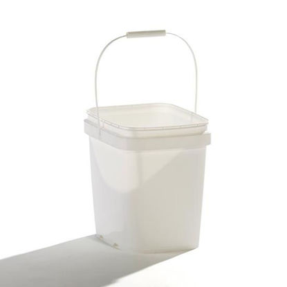 Picture of 2 Gallon White HDPE EZ Stor Pail with Plastic Handle
