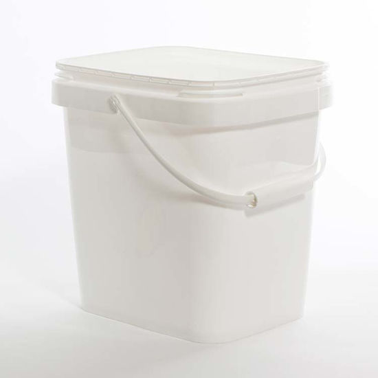 Picture of 4 Gallon White HDPE EZ Stor Pail