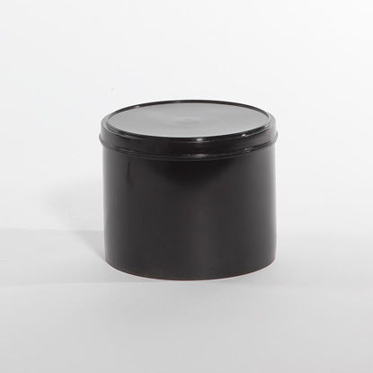 Picture of 80 oz Black Plastic Can, 502x602 w/ Lid