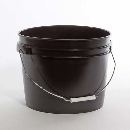 Picture of 12 liter Black HDPE Open Head Pail
