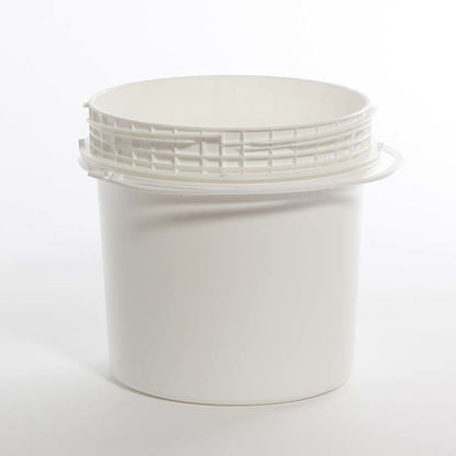 Picture of 1.2 Gallon White HDPE Open Head Pail, 1H2/Y5.5/S