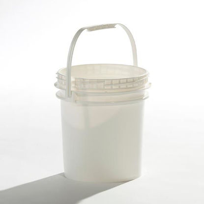 Picture of 2.5 Gallon White HDPE Open Head Pail, 1H2/Y12.2/S
