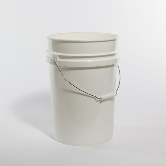Picture of 6 Gallon White HDPE Open Head Pail