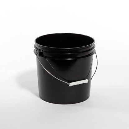 Picture of 2 Gallon Black HDPE Open Head Pail, 1H2/Y7.5/S