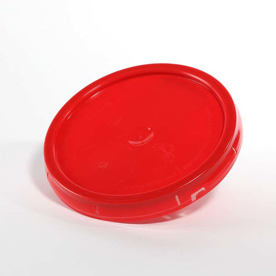Picture of 3.5-6 Gallon Red HDPE Tear Tab Cover