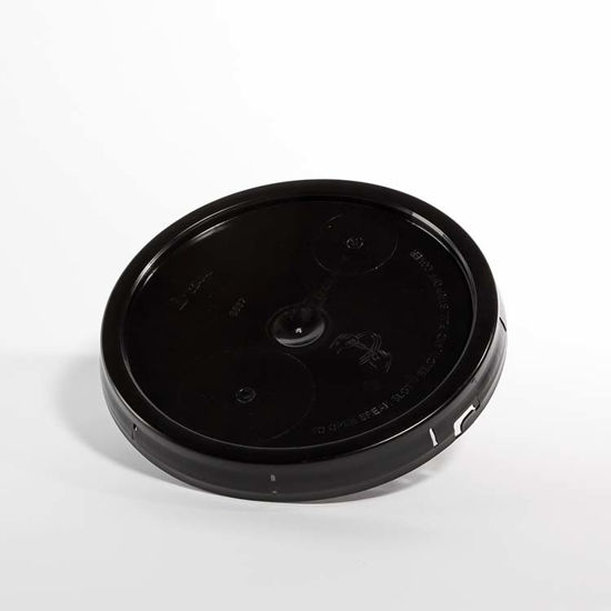 Picture of 3.5-6 Gallon Black HDPE Tear Tab Cover (EPDM Gasket)