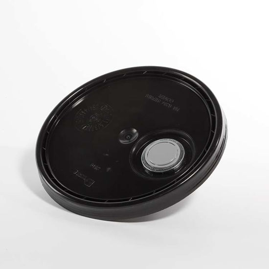 Picture of 3.5-6 Gallon Black HDPE Cover w/ Rieke Flex Spout
