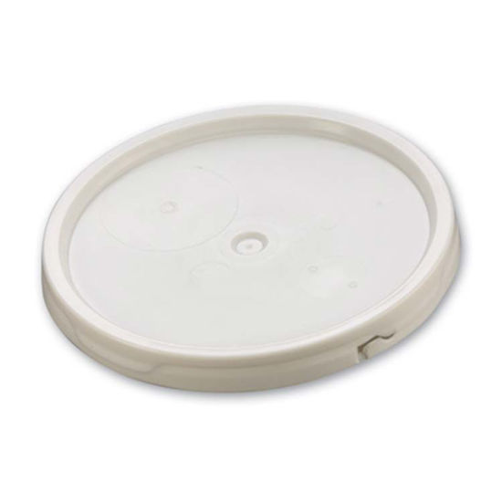 Picture of 3.5-6 Gallon White HDPE Tear Tab Cover w/ Gasket