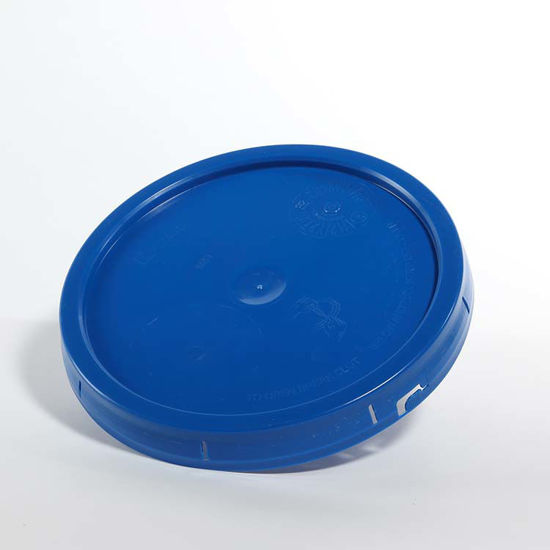 Picture of 3.5-6 Gallon Blue HDPE Tear Tab Cover, UN-Rated for Solids (EPDM Gasket)