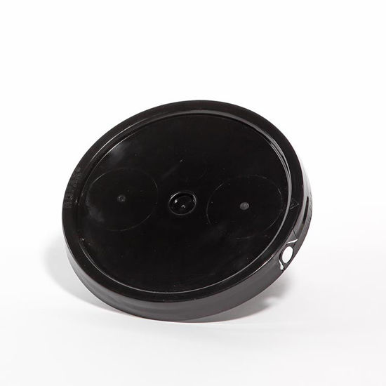 Picture of 2 Gallon Black HDPE Tear Tab Cover with Gasket