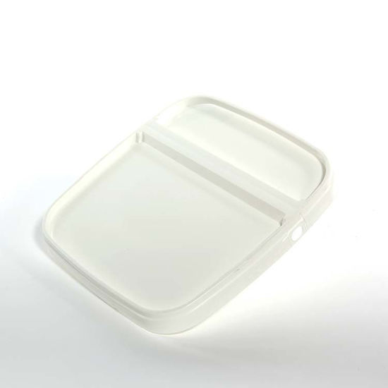 Picture of 1.32 Gallon White HDPE EZ Stor Hinged Cover