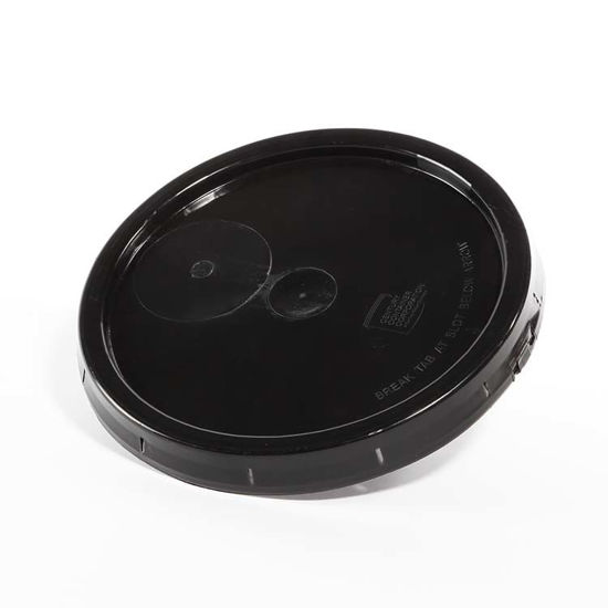 Picture of 3.9 Gallon Black HDPE Tear Tab Cover (Neoprene Gasket)