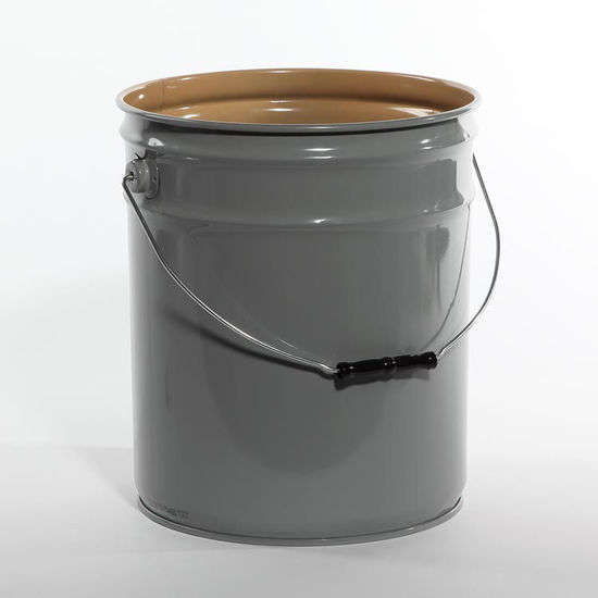 Picture of 5 Gallon Gray Open Head Pail, Buff Epoxy Phenolic Lined, 1A2/Y1.8/100
