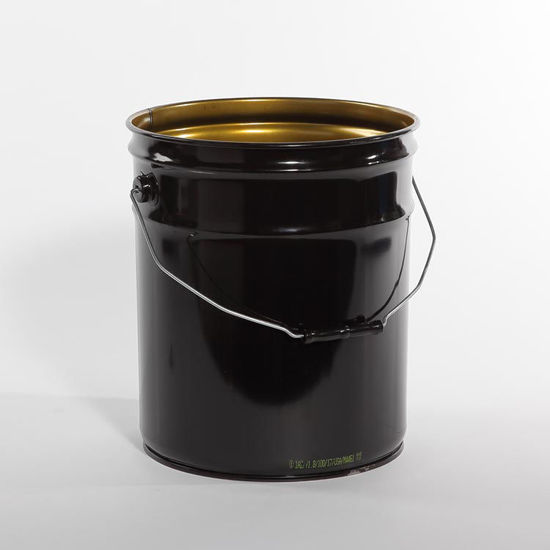 Picture of 5 Gallon Black Open Head Pail, Phenolic Lined, 1A2/Y1.8/100