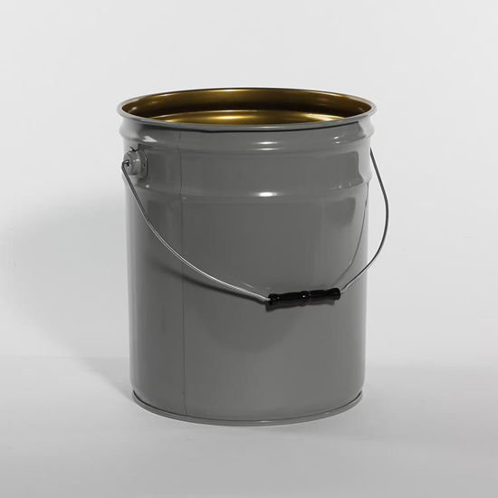 Picture of 5 Gallon Gray Open Head Pail, Phenolic Lined, 1A2/Y1.6/90