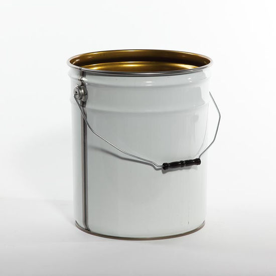 Picture of 5 Gallon White Open Head Pail, Phenolic Lined, 1A2/Y1.5/100