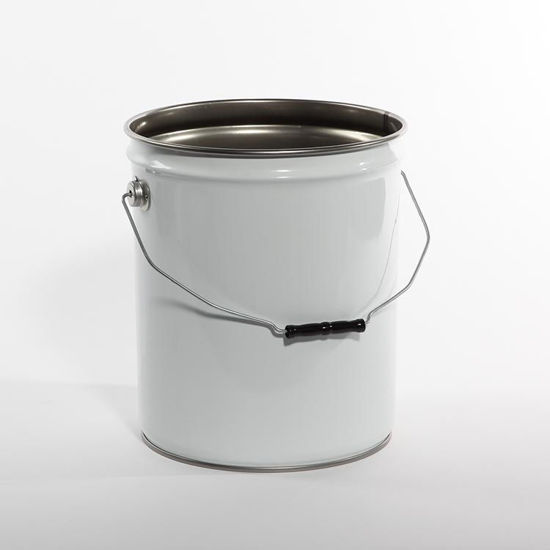 Picture of 5 Gallon White Open Head Unipak Pail, Rust Inhibited, 1A2/Y1.6/50