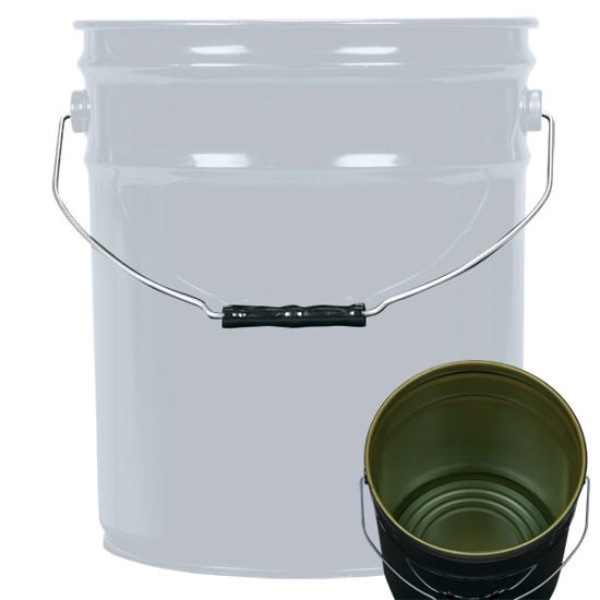 Picture of 5 Gallon Gray Open Head Pail, Green Phenolic Lined, 1A2/Y1.5/70