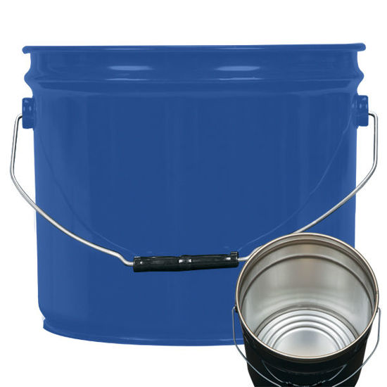 Picture of 3.5 Gallon Blue Open Head Pail, Rust Inhibited, 1A2/Y1.6/50