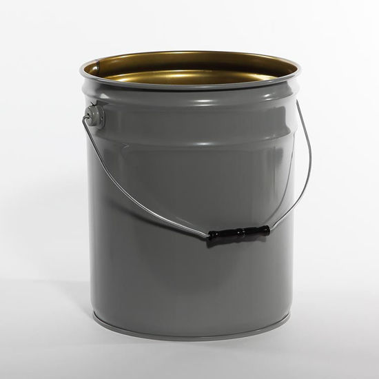 Picture of 5 Gallon Gray Open Head Pail, Phenolic Lined, 1A2/Y1.5/70